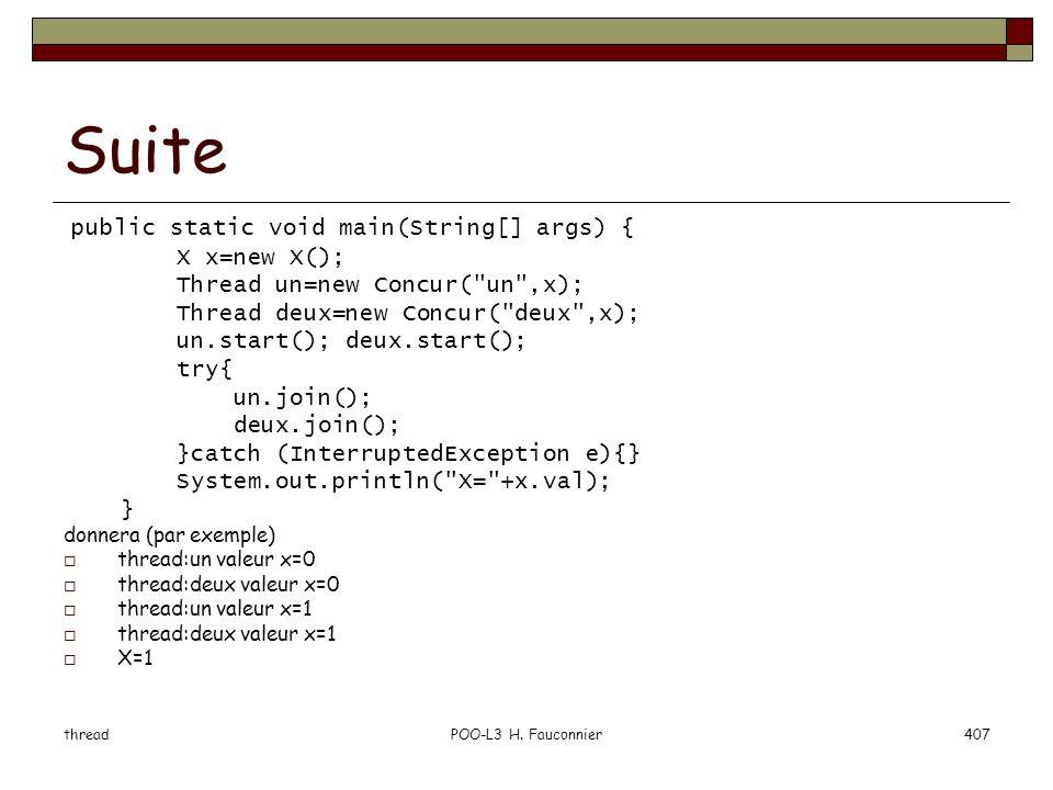 Suite public static void main(String[] args) { X x=new X();